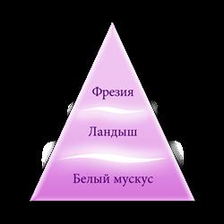 Пирамида ароматов серии Белое белье